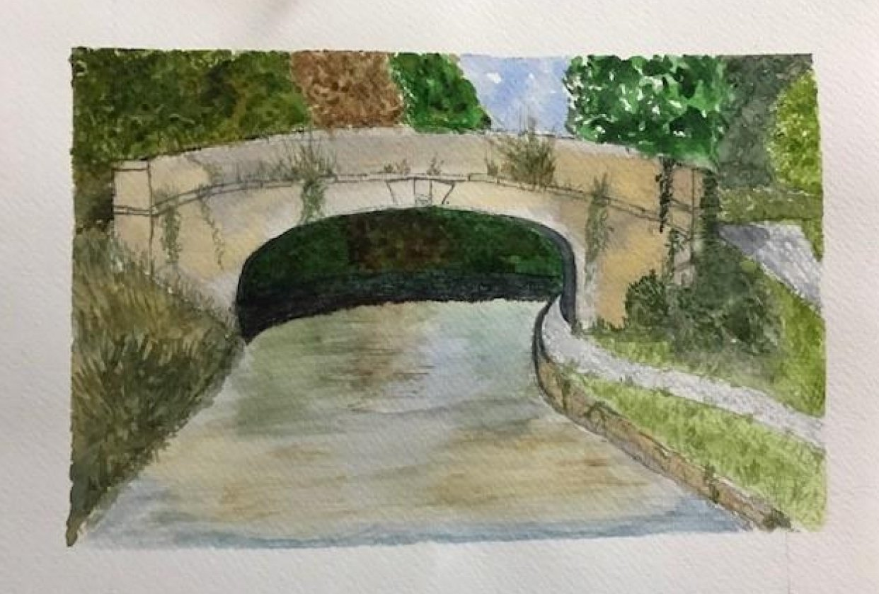 Painting water - student project