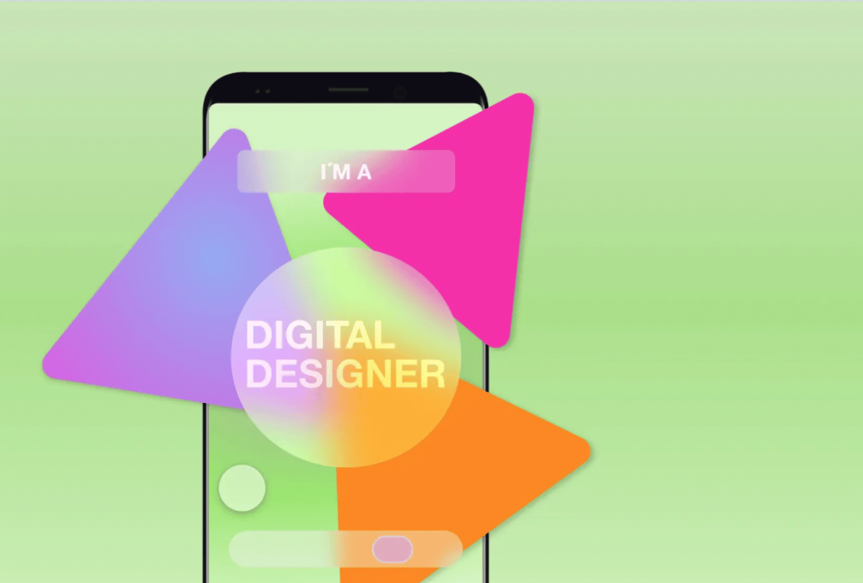 Frosted glass in Adobe XD - student project