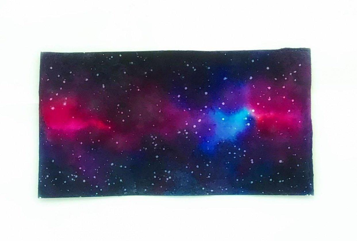 Watercolor galaxy - student project