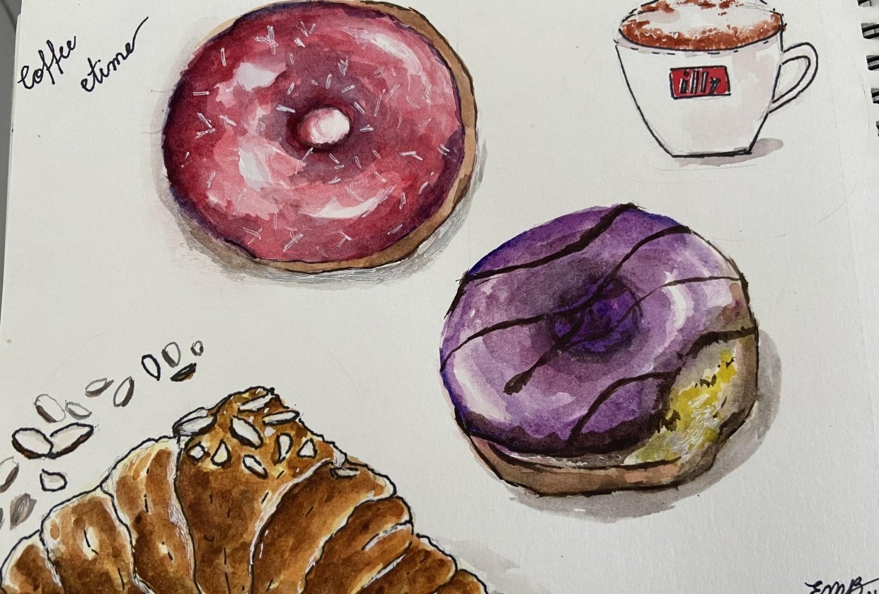 Donuts and coffee - student project