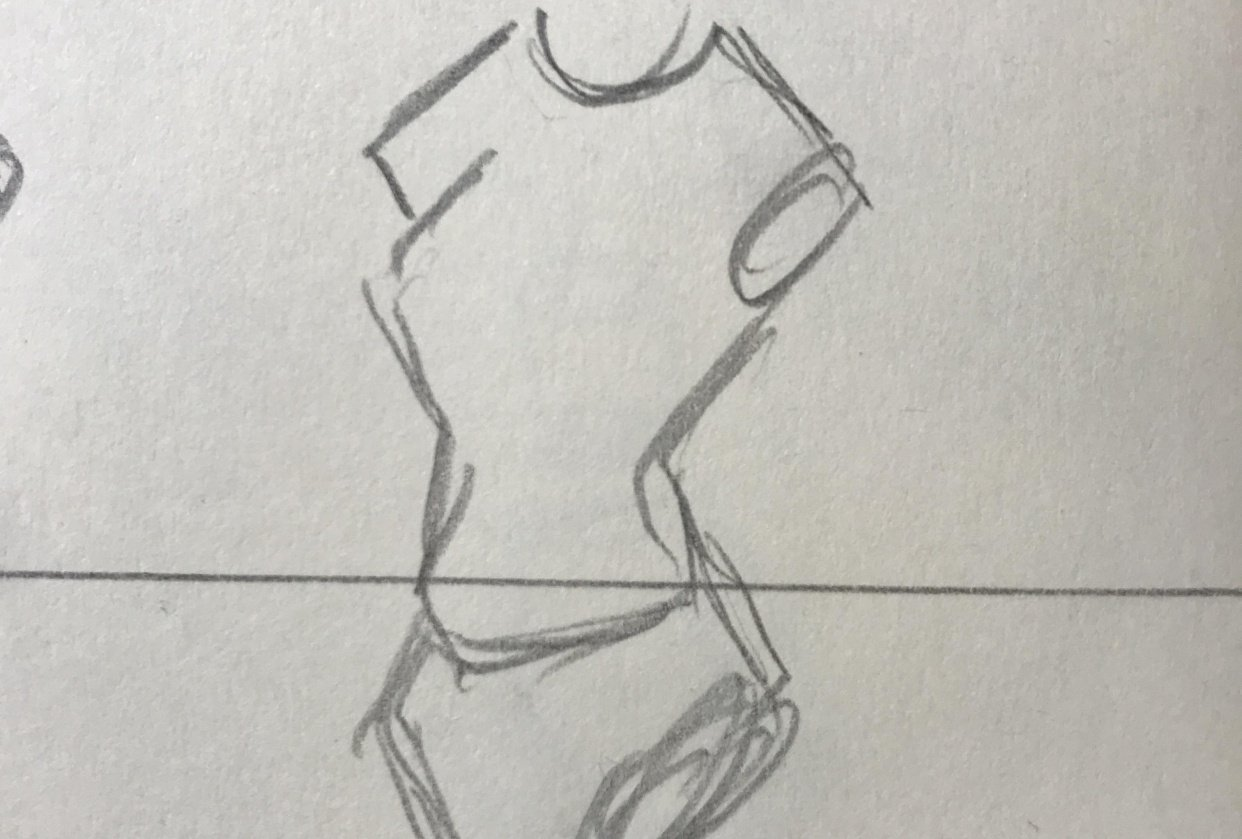 Female Body sketching - student project