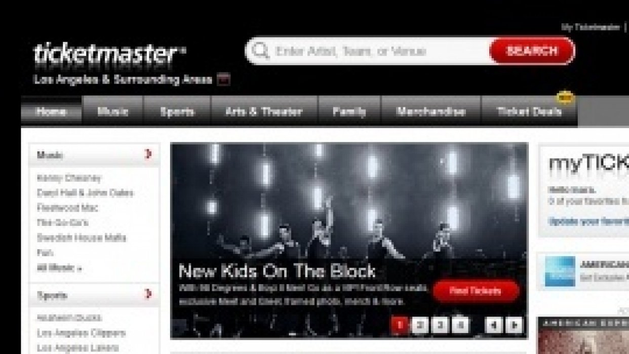 Purchasing a Ticket through Ticketmaster.com  - student project