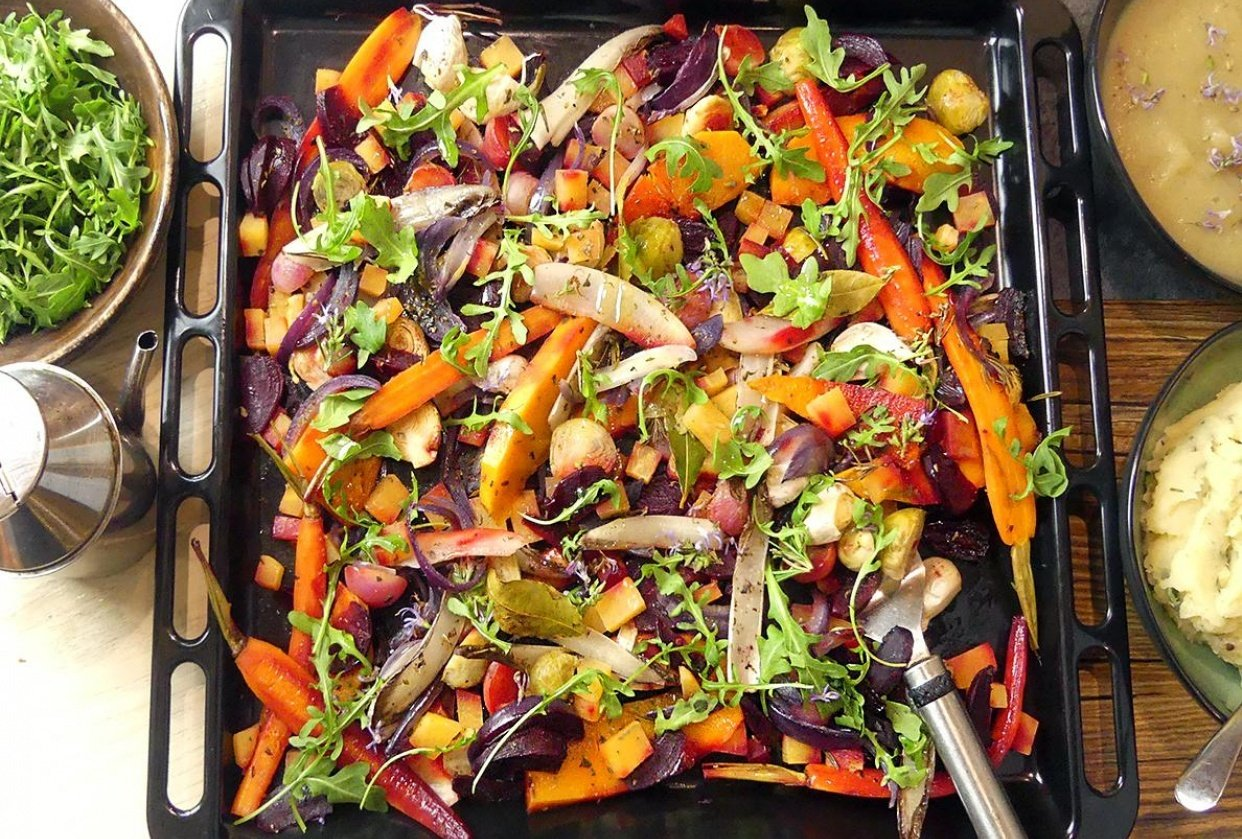 Vegan Retreat - Oven Roasted Roots and Vegetables - student project