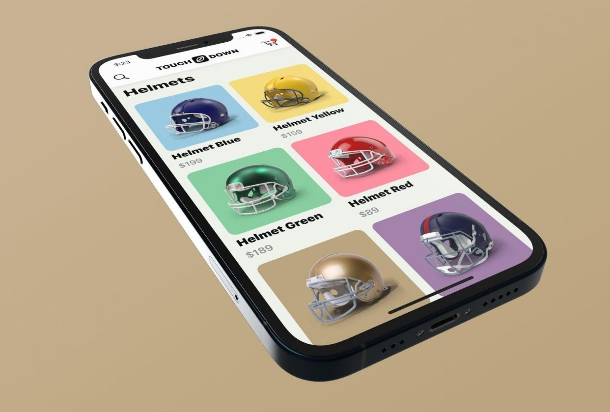 I created Touchdown, an e-commerce mobile application with SwiftUI - student project