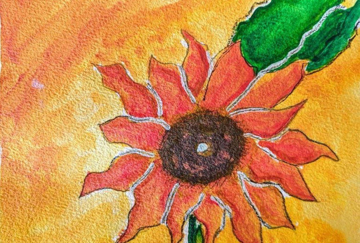 A fiery flower - student project