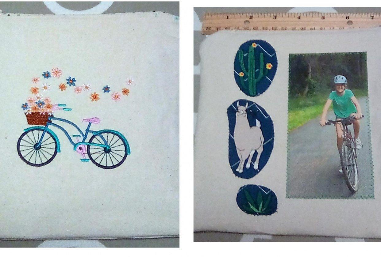 Embellished bag - student project