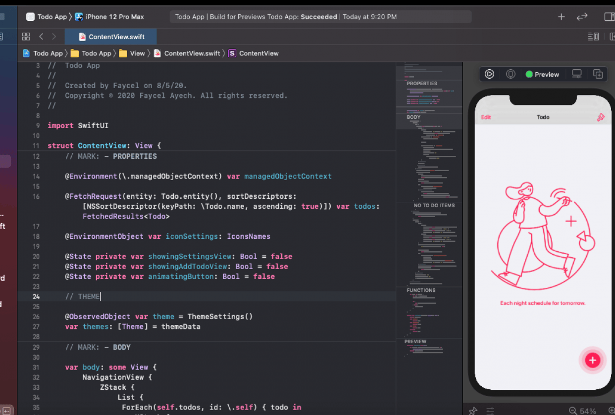 iOS Todo App with Core Data and SwiftUI - student project