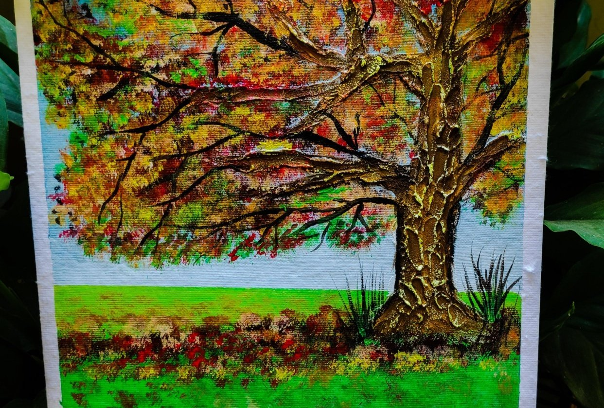 Tree texture painting - student project