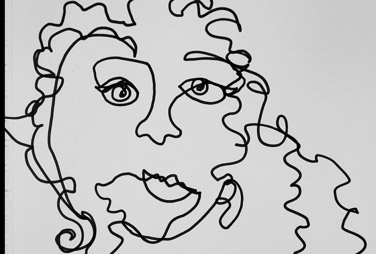Line Self Portrait - student project