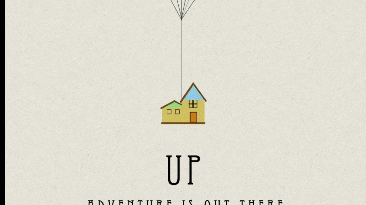 My Retro UP Movie Poster - student project