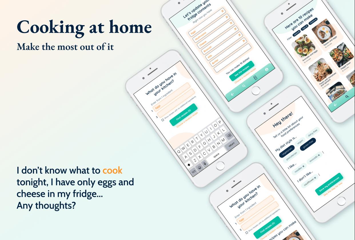 Recipe App - UX   UI Case Study - student project