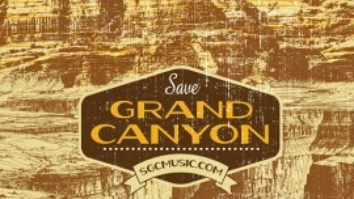 Save Grand Canyon Gigposter - student project