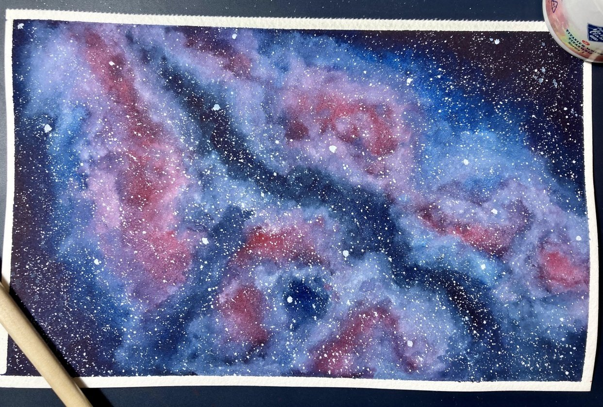 Watercolour Galaxies: Shapes - student project