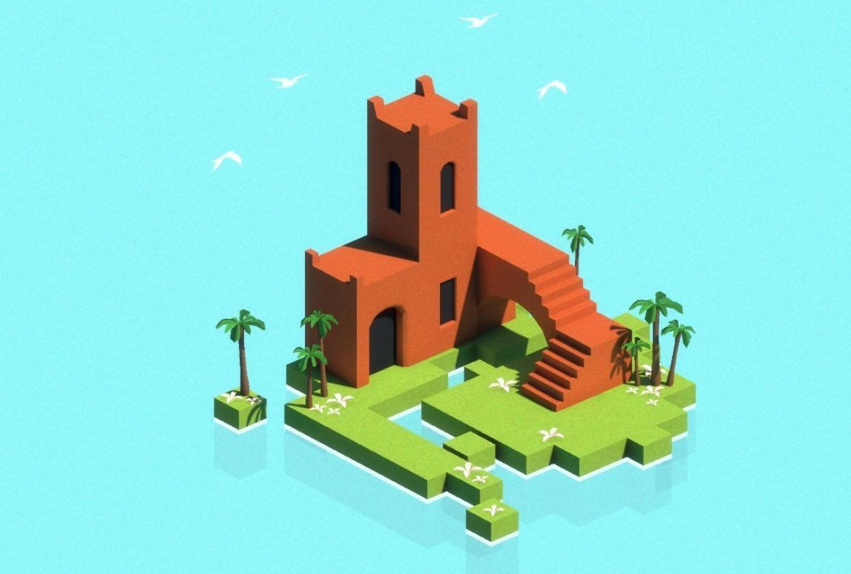 Unity & Maya Low Poly - student project