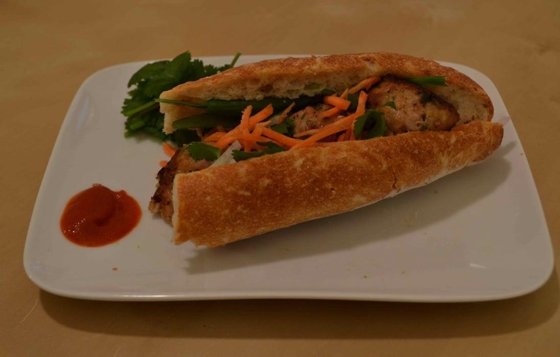 Pork Meatball Banh Mi - student project