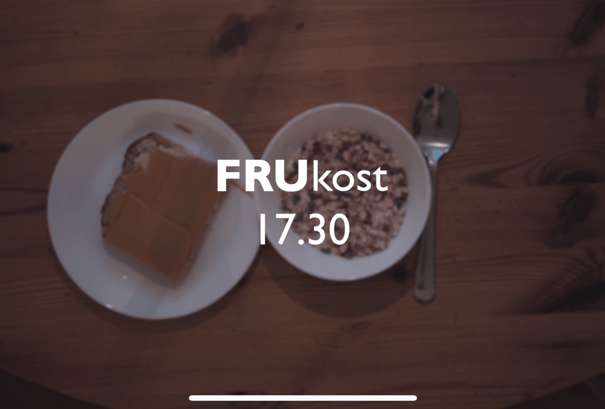 Breakfast at 17.30 - student project