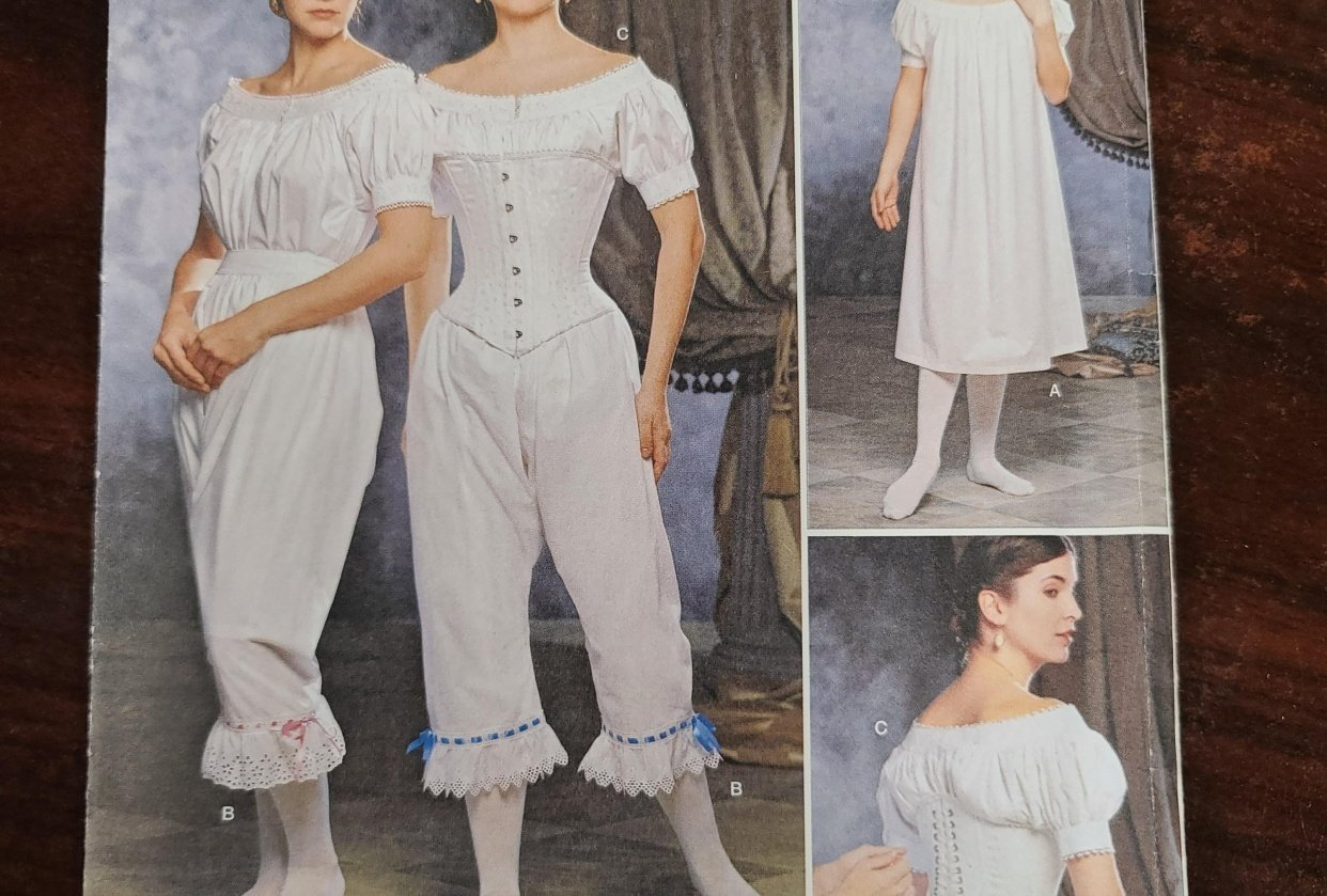 1890s victorian undergarments - student project