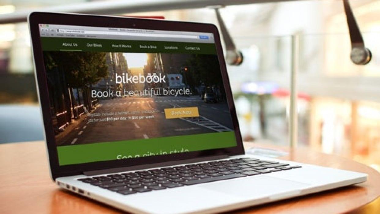 BikeBook Website - Moonrise Kingdom Inspired - student project