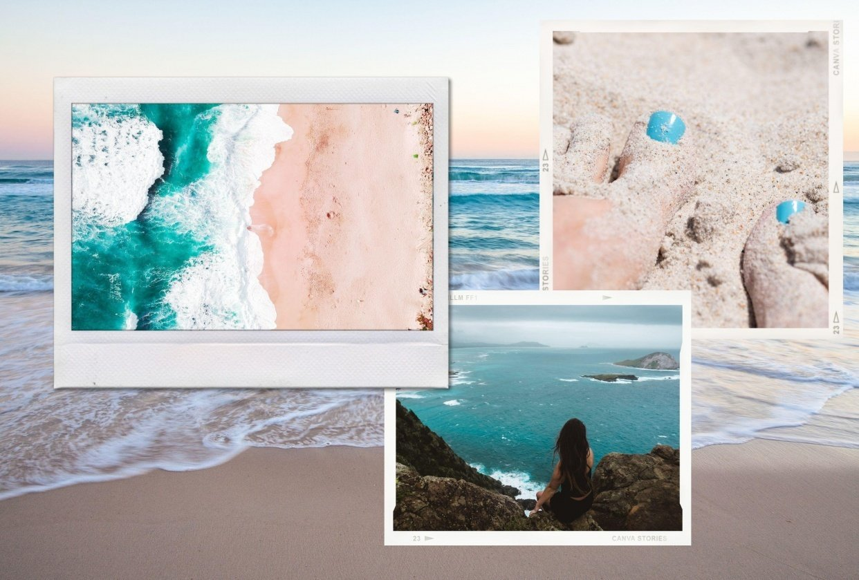Beach puzzle grid - student project