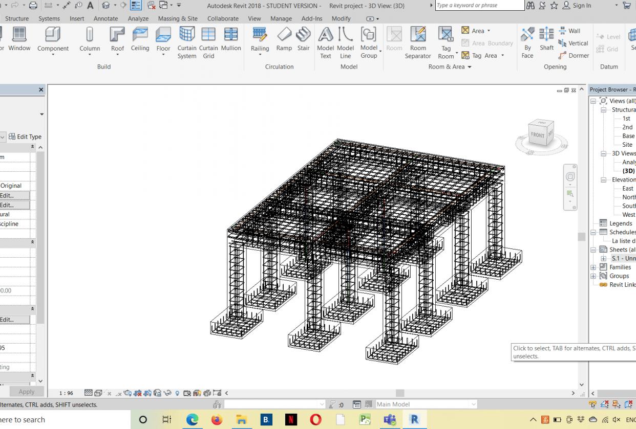 Fereillage d'une structure - student project