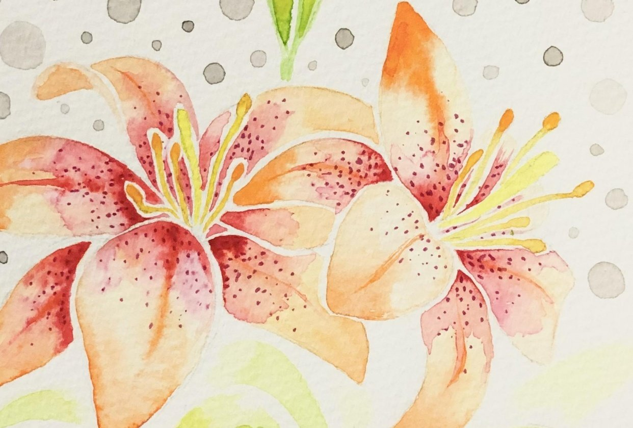 My Watercolor Botanicals - student project