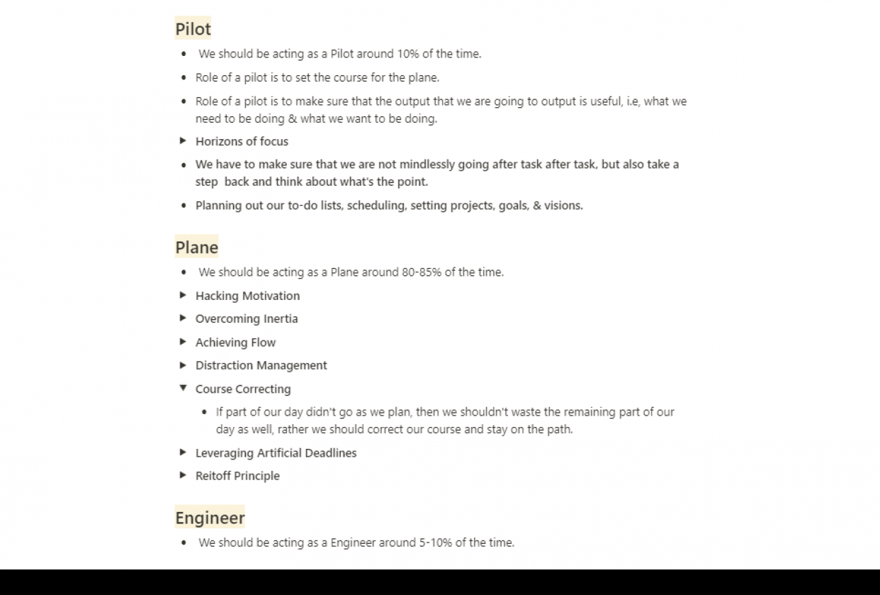 Class Notes (Pilot & Plane) - student project
