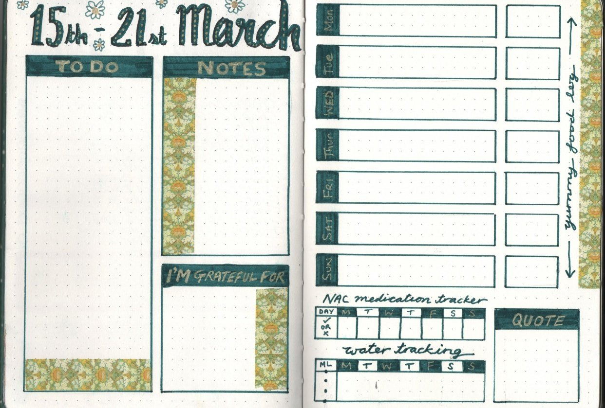 Colourful Weekly Spread - student project