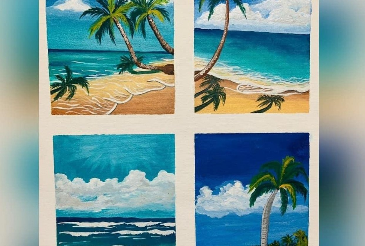 Beach paintings - student project