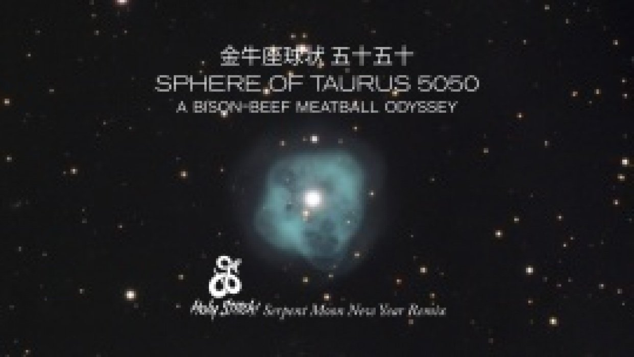 LUNAR NEW YEAR BISON BALLS aka SPHERE OF TAURUS 5050 (Holy Stitch! Serpent Moon New Year Remix) - student project