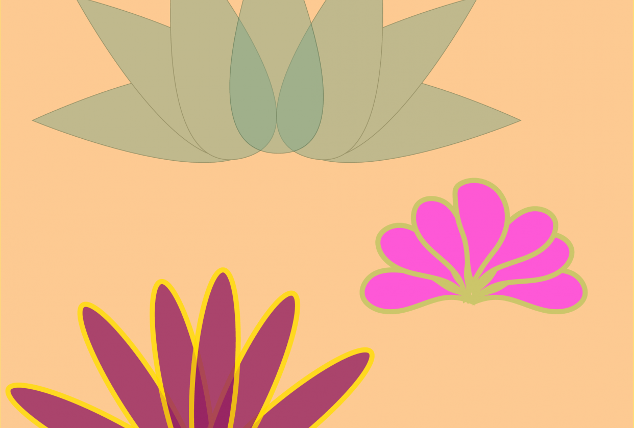 3 pretty flowers - student project