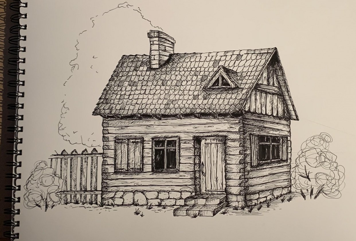 a cottage - student project