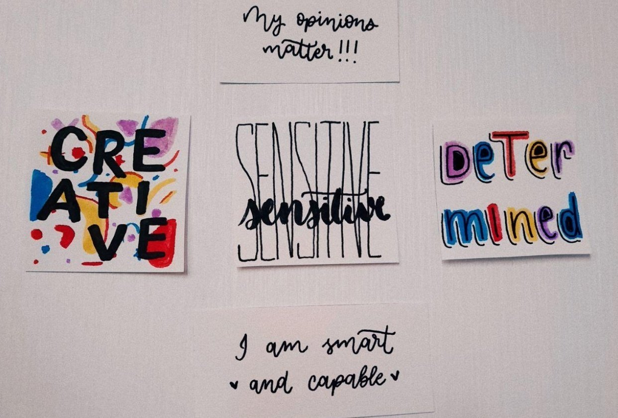 affirmation wall - student project