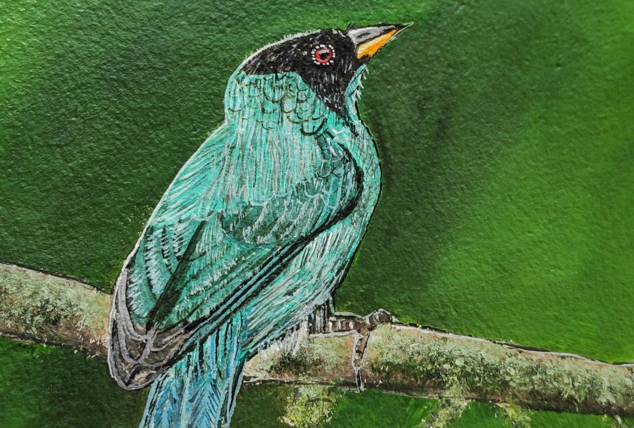 Bird Realistic Painting - student project