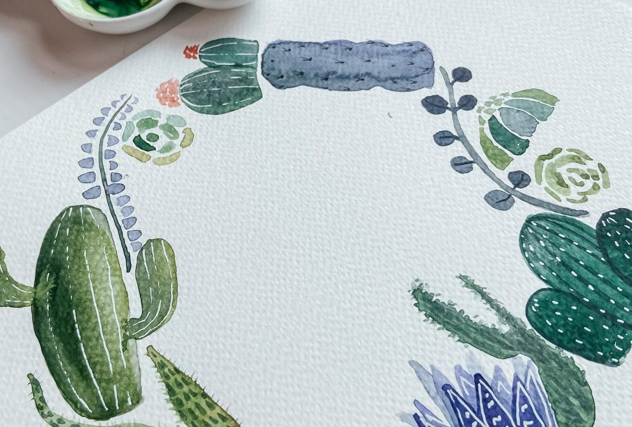 Cacti + Suculents - student project