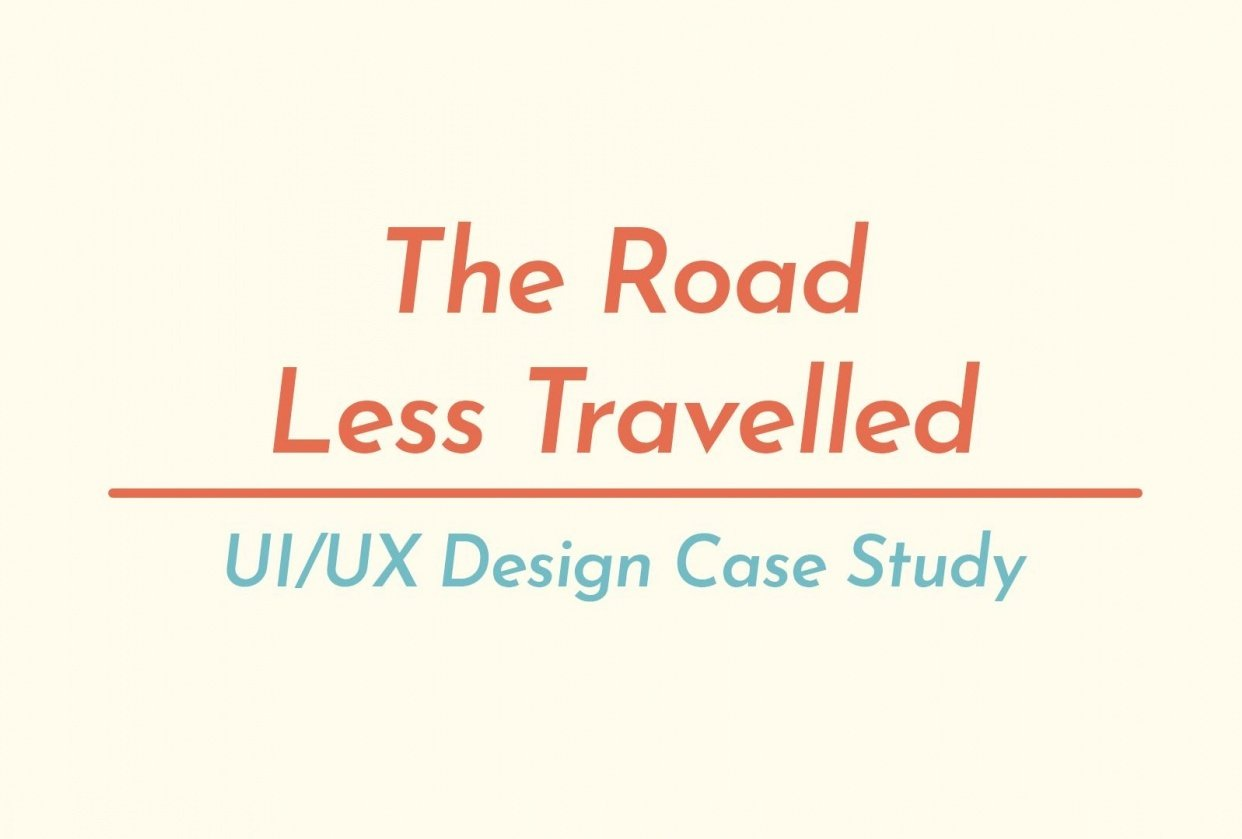 """""""The Road Less Travelled"""" - student project"""