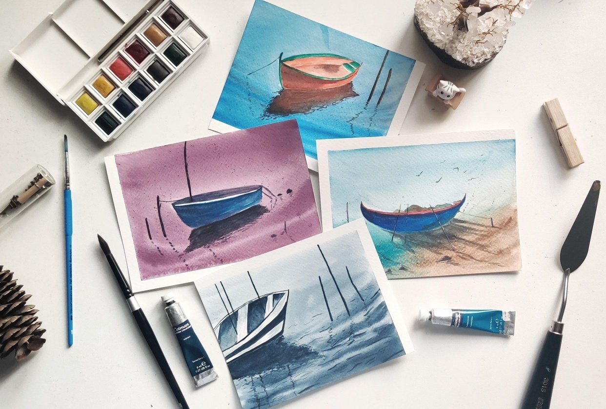 Boats study - student project