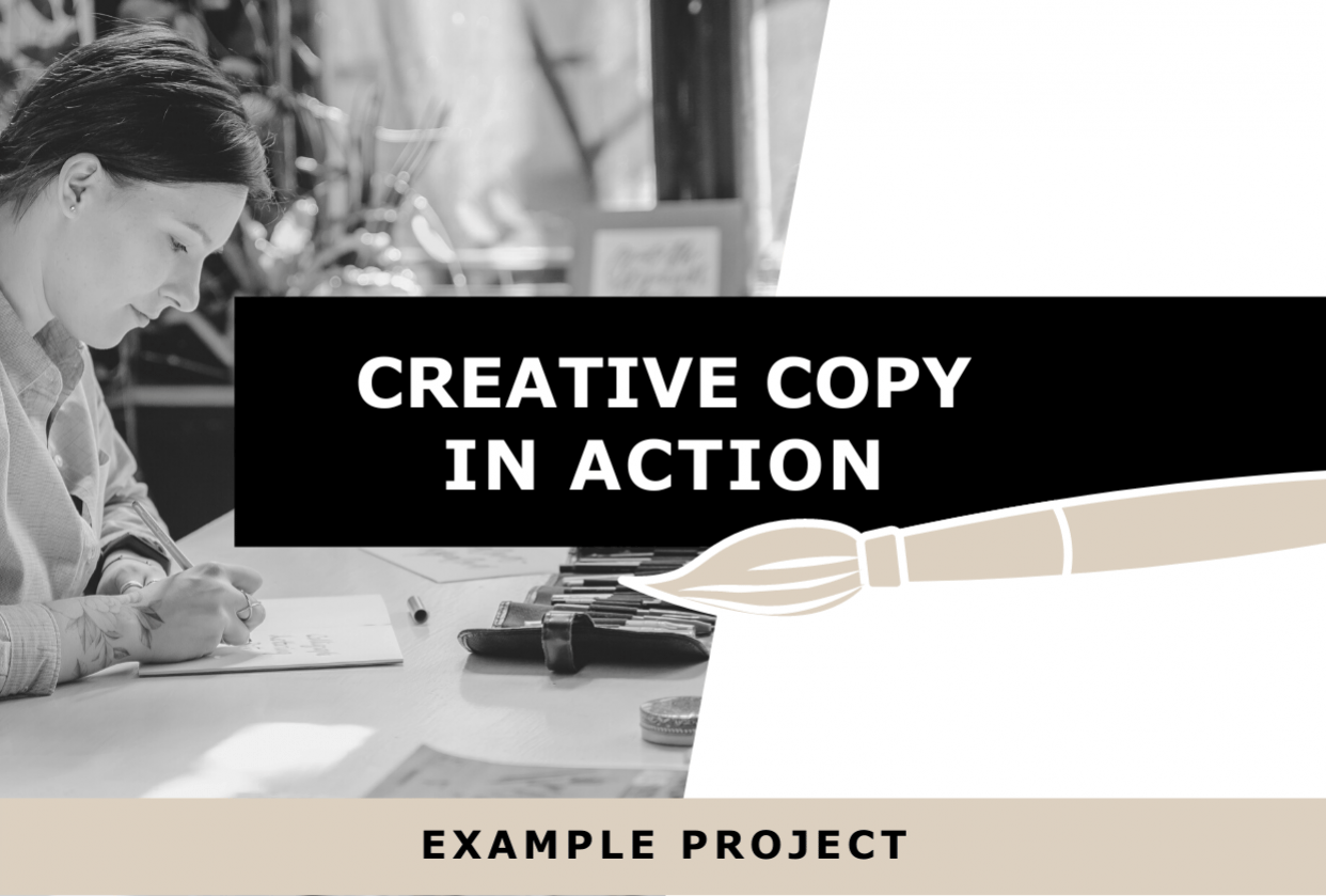 Creative Copy in Action: Example Project - student project