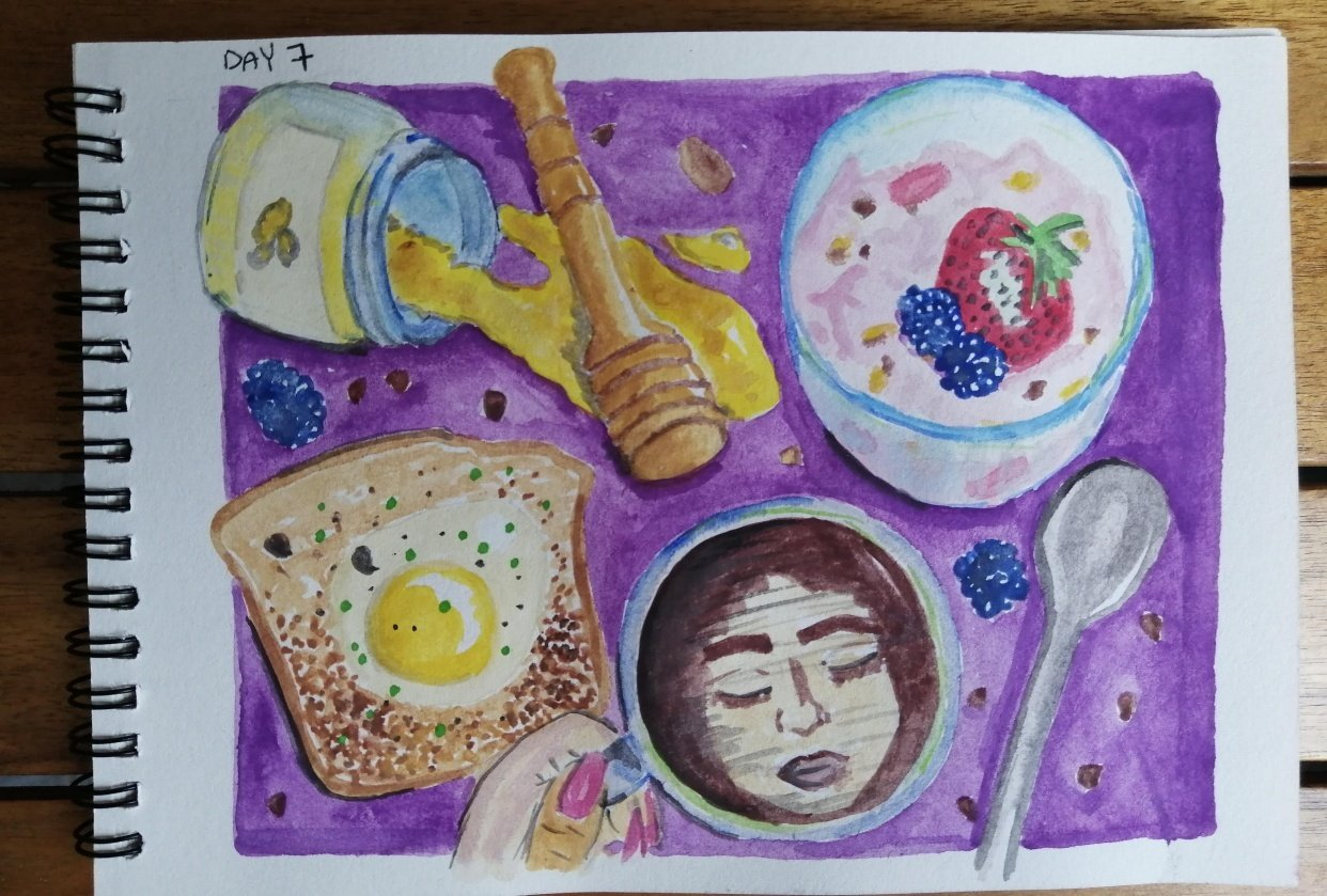 Watercolor for Breakfast - student project