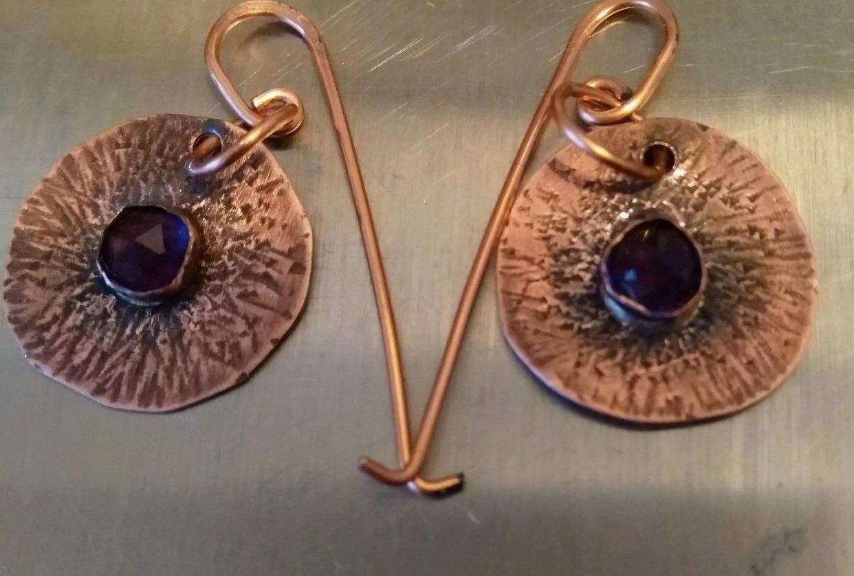 starburst earrings - student project