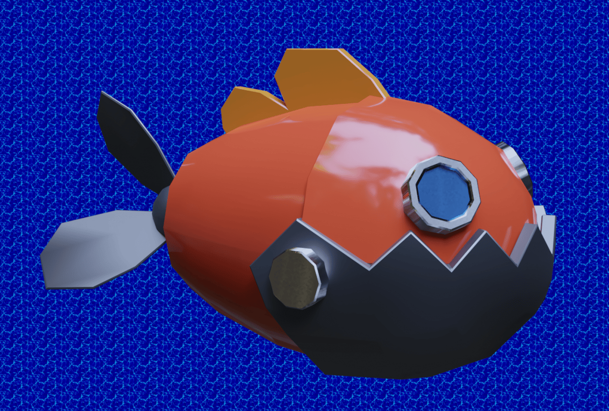 Fish render - student project
