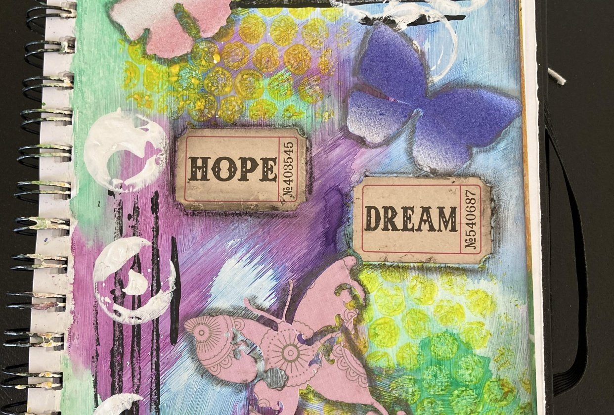 art Journal page - student project