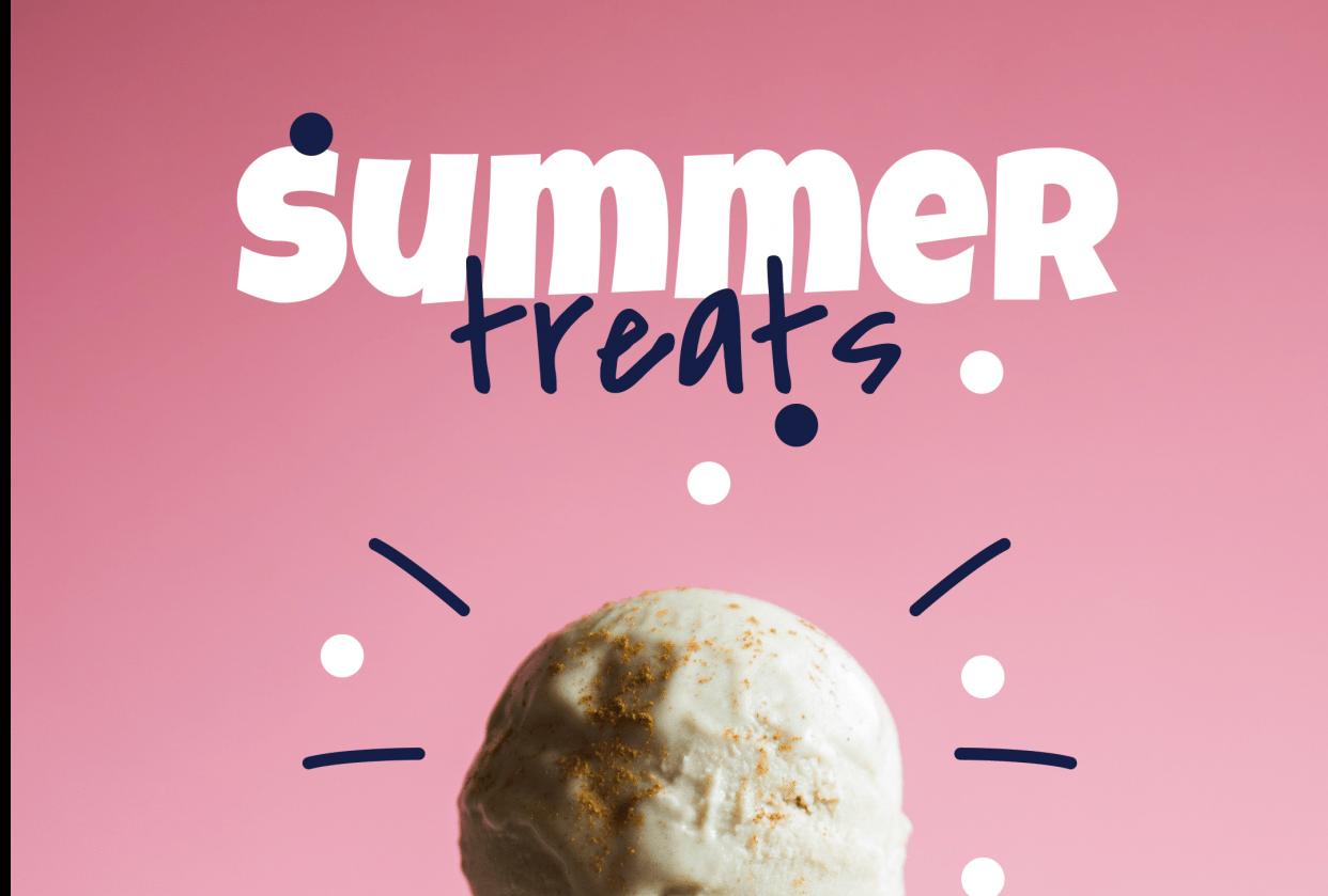 zoho ice creams & restaurent instagram ad posts - student project