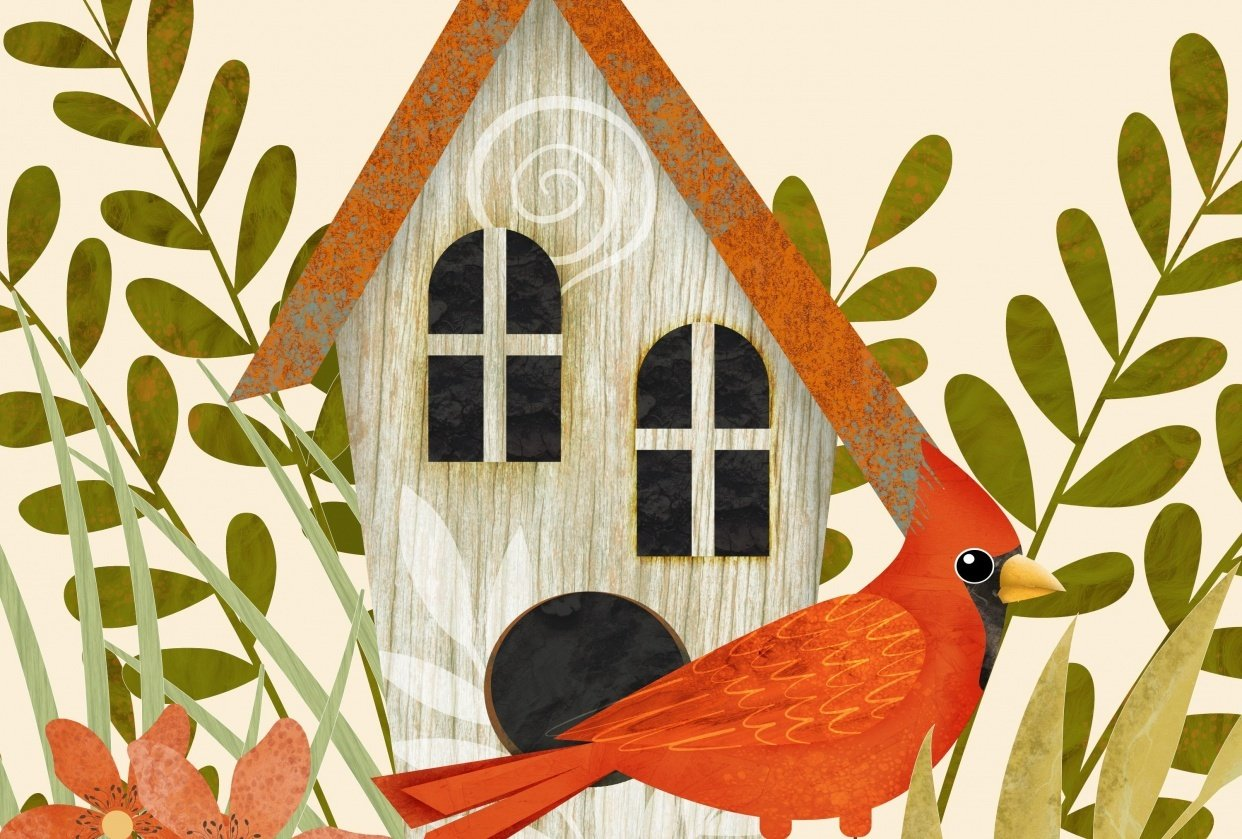 Create birds and bird houses in Affinity Designer for iPad - student project