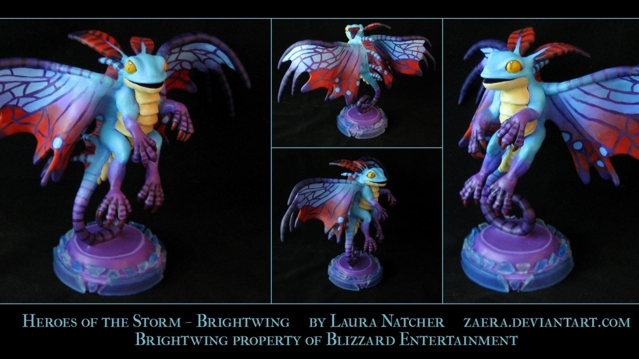 Brightwing the Faerie Dragon - student project