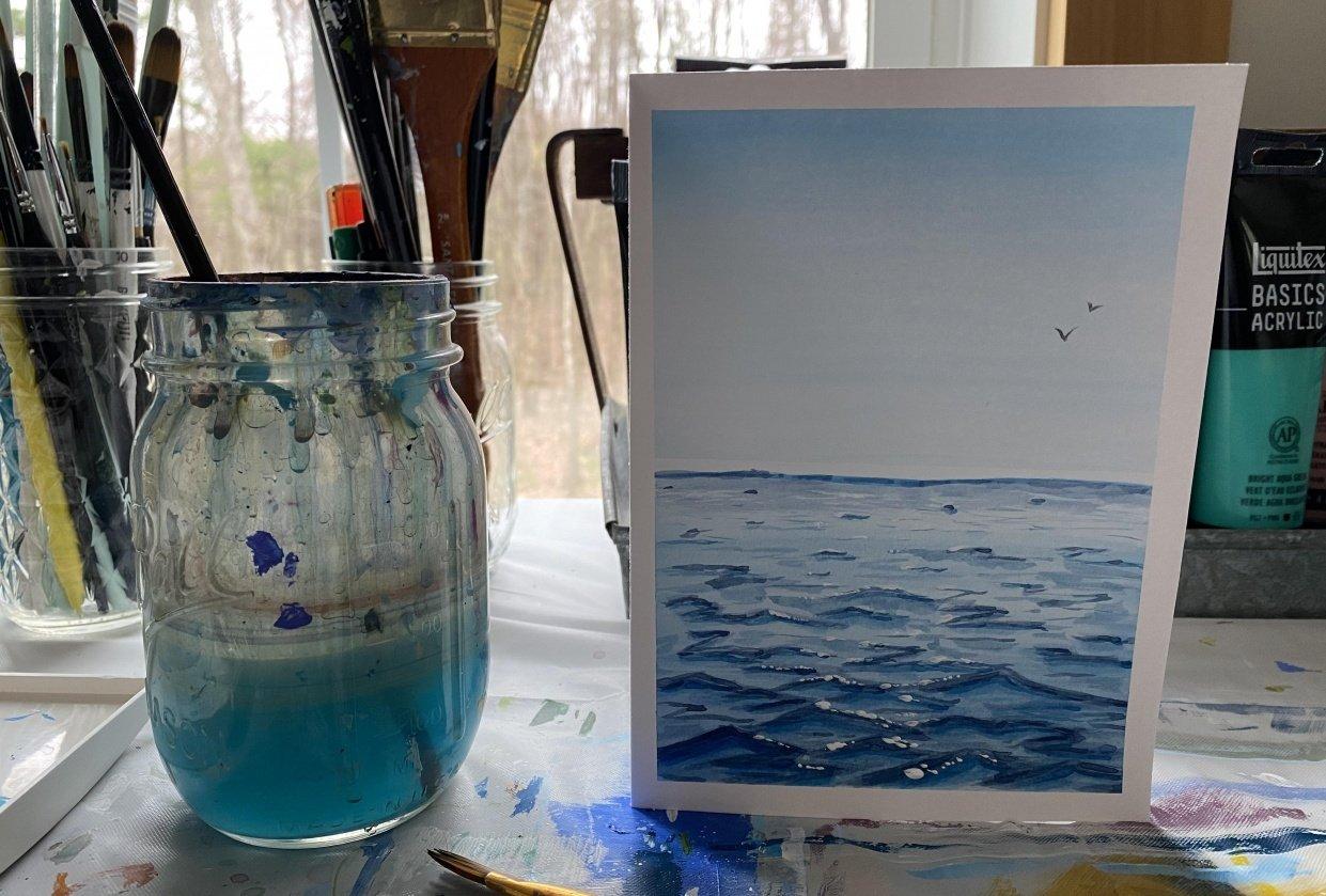 Watercolor ocean - student project