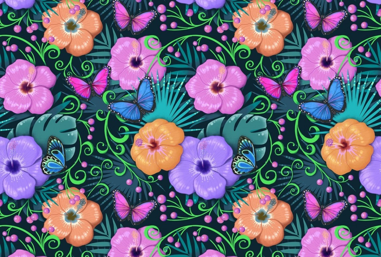 Advanced Seamless Repeat Patterns - student project