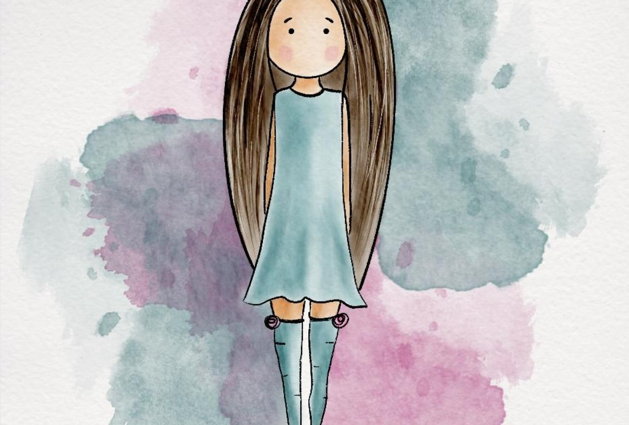 Sweet and Stylized Girl by Cleopatra C. - student project