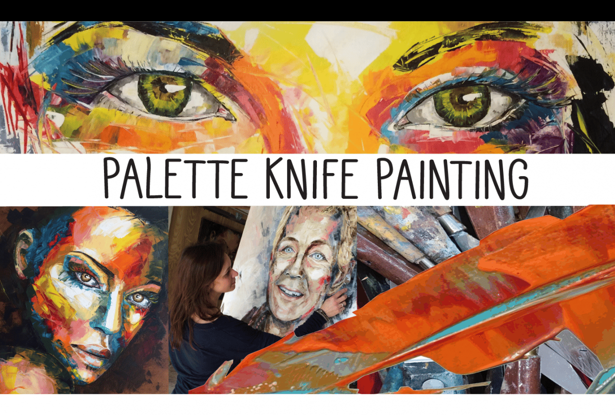 Your portrait stands out with PALETTE KNIVES! - student project