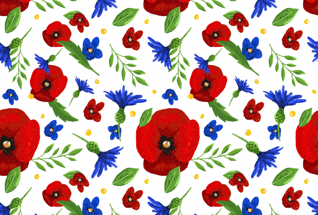 Polish Summer Flowers - student project