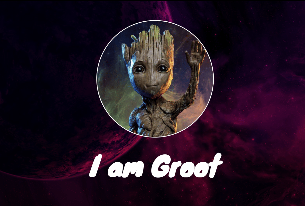 I am Groot - student project